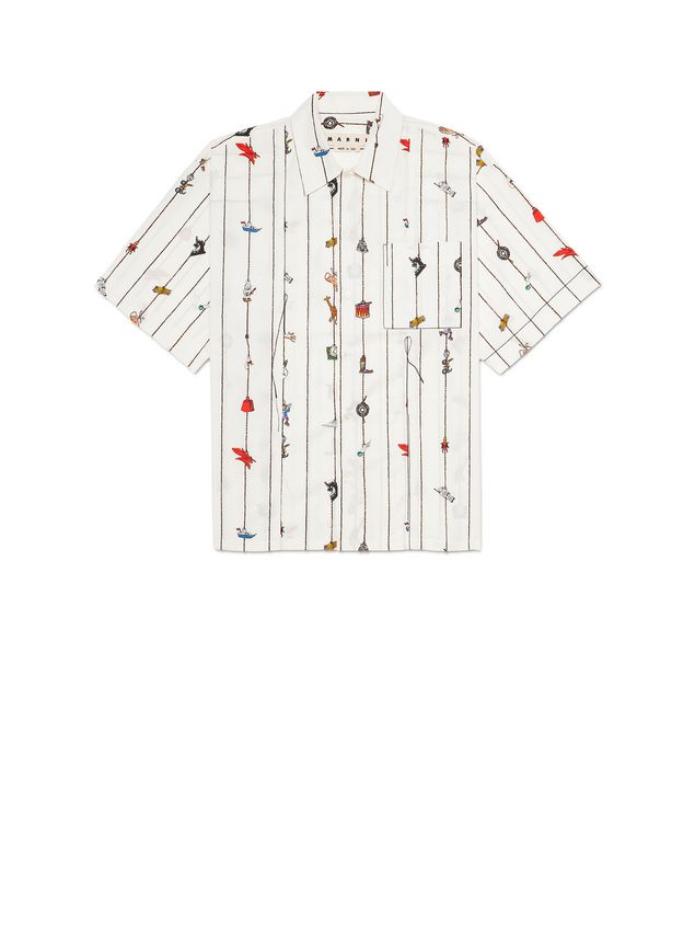 Marni Poplin shirt with Cracker print by Frank Navin Man - 2