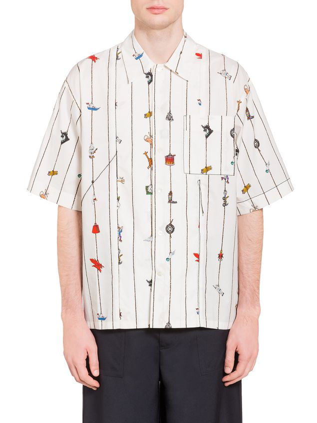 Marni Poplin shirt with Cracker print by Frank Navin Man - 1