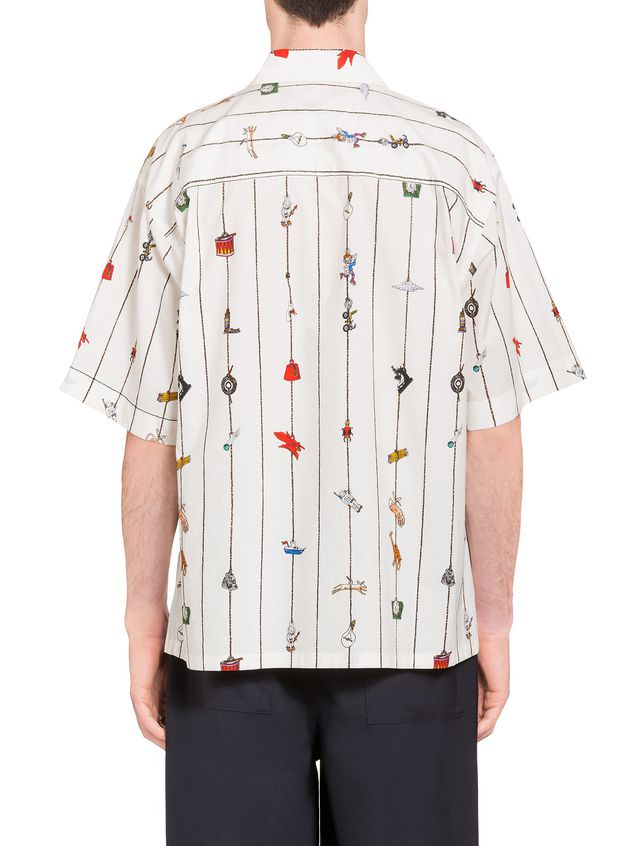 Marni Poplin shirt with Cracker print by Frank Navin Man - 3