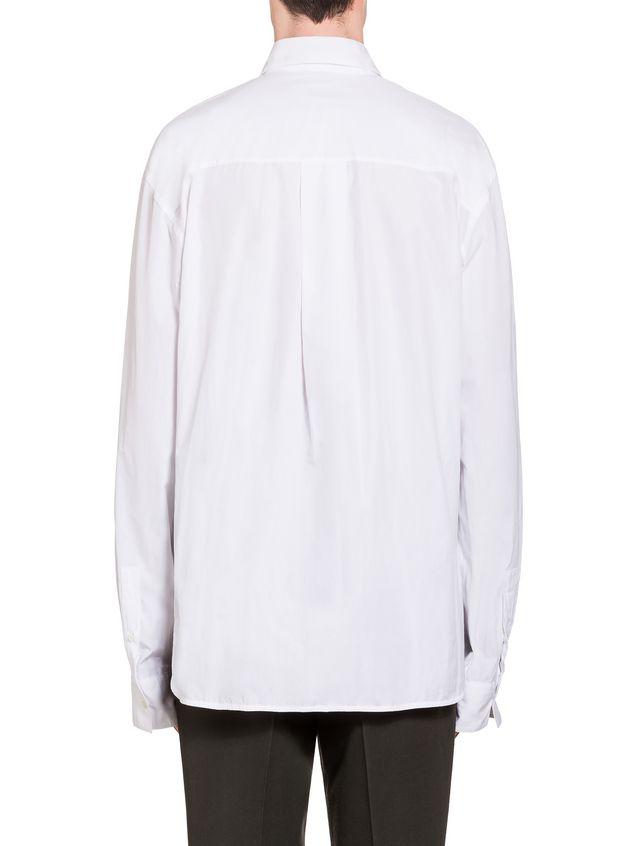Marni Poplin shirt with Frank Navin print and breast pocket Man