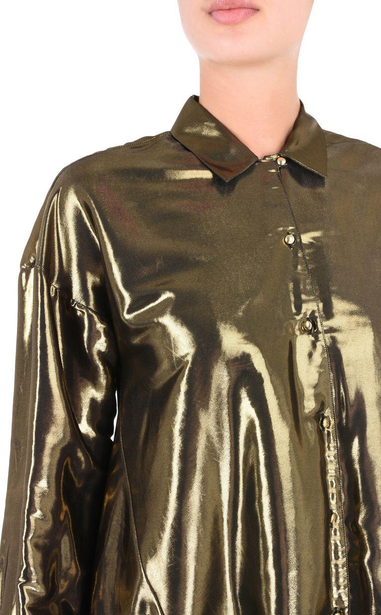 JUST CAVALLI Lurex-finish shirt Long sleeve shirt Woman e