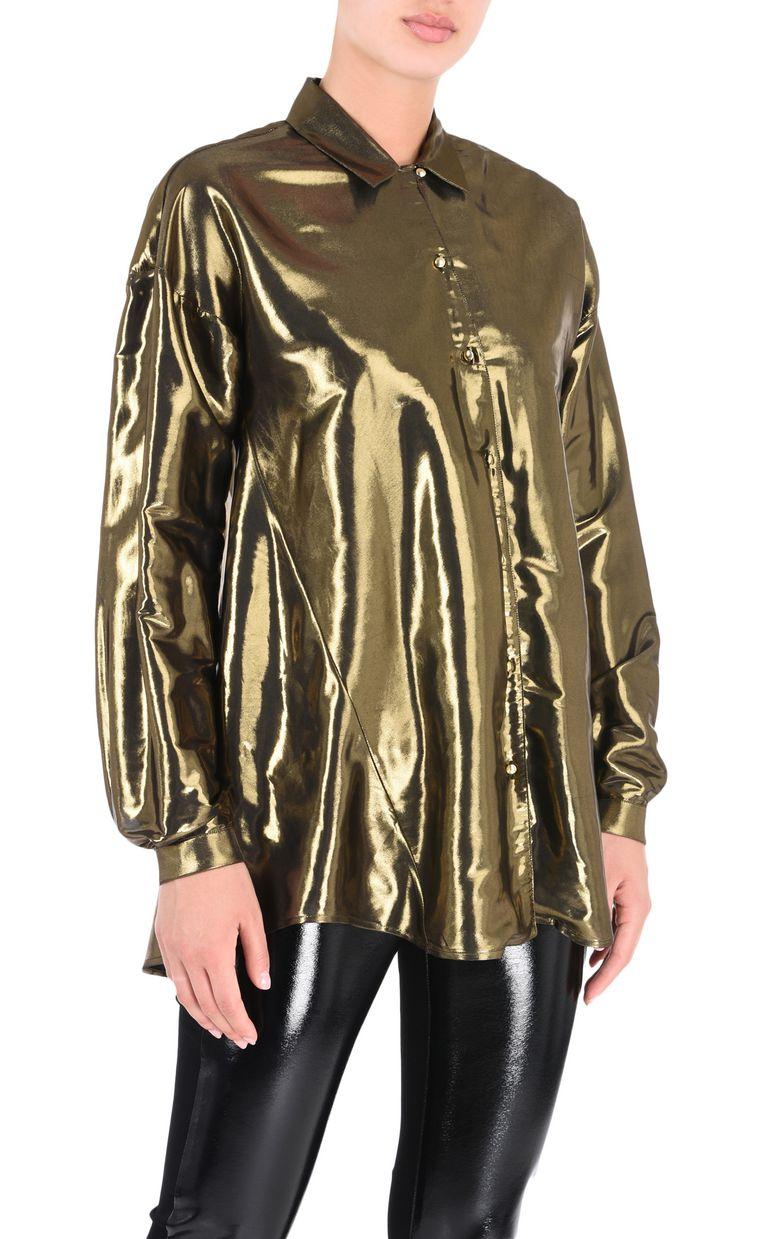 JUST CAVALLI Lurex-finish shirt Long sleeve shirt Woman f