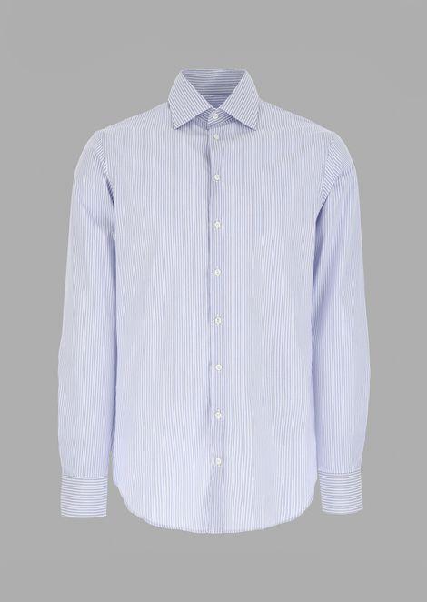 Camisa de corte estándar de algodón con estampado de milrayas