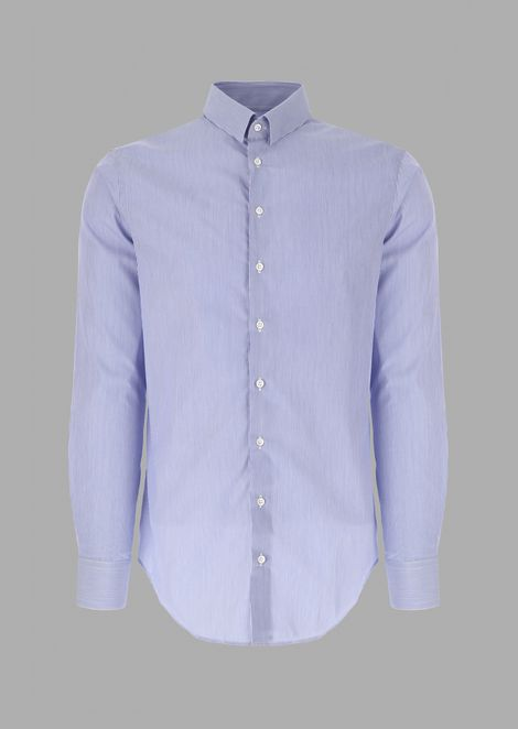 Camicia regular fit in cotone rigato