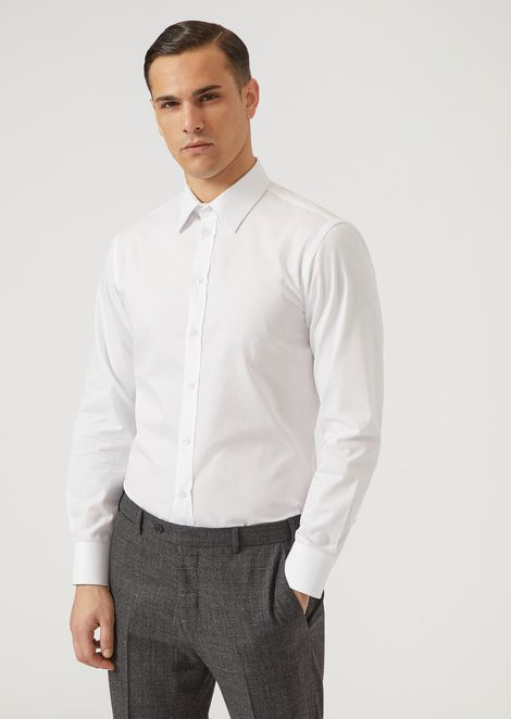 Micro-weave pure cotton shirt