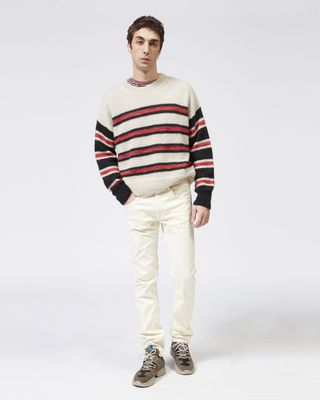 ISABEL MARANT LONG SLEEVE SWEATER Man RUSSELLH striped sweater r