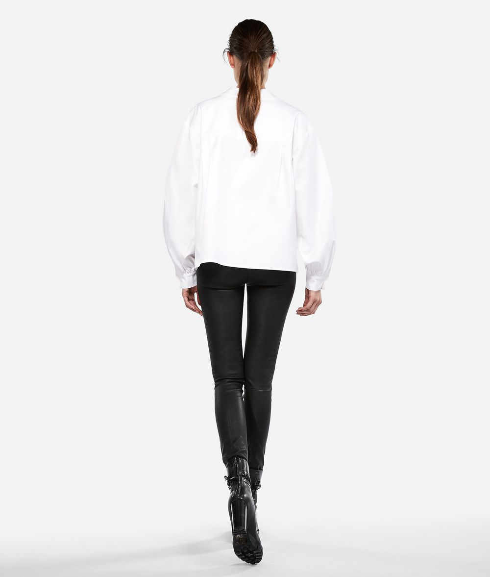 KARL LAGERFELD KARL Round Collar Shirt Blouse Woman d