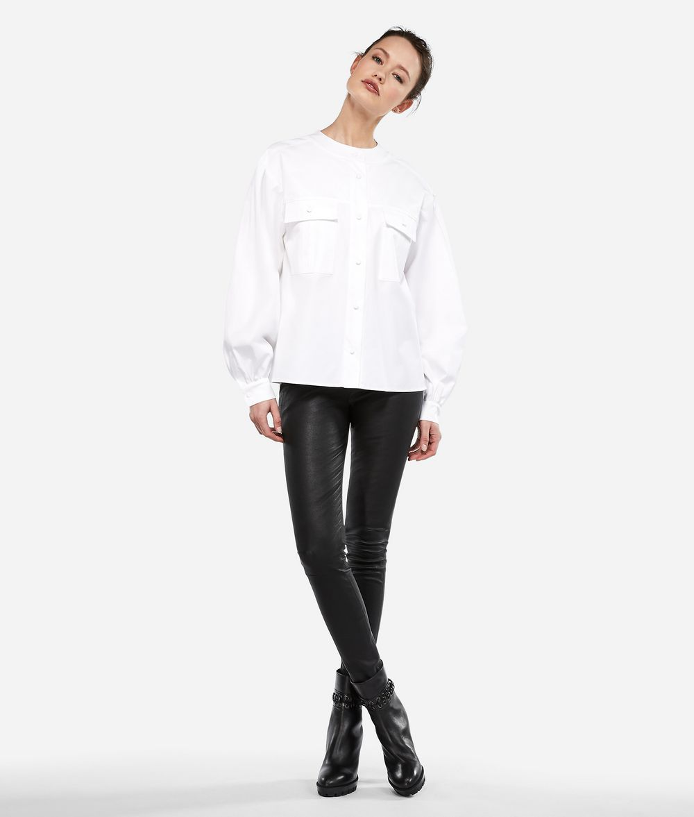 KARL LAGERFELD KARL Round Collar Shirt Blouse Woman f