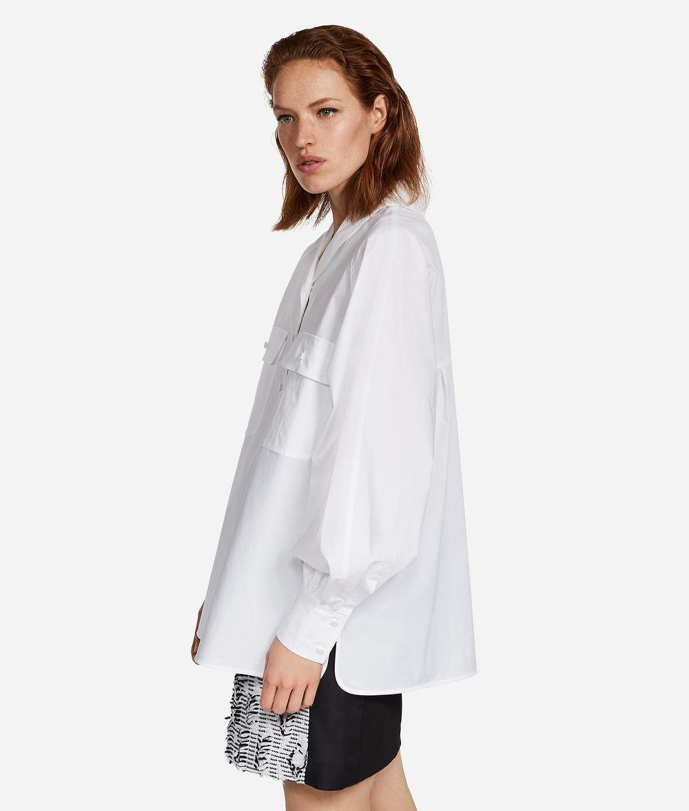 KARL LAGERFELD KARL Shawl Collar Shirt Blouse Woman d