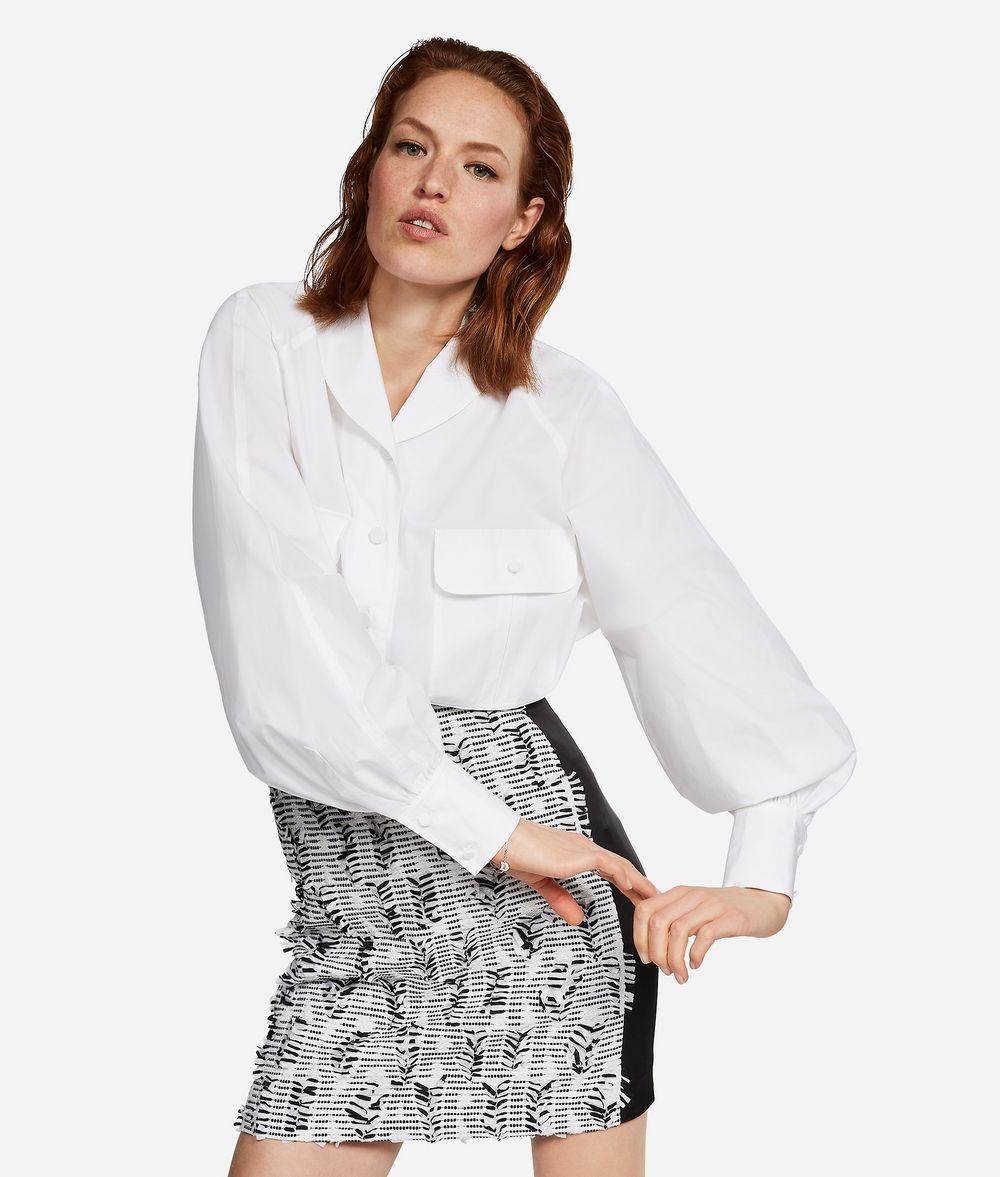 KARL LAGERFELD KARL Shawl Collar Shirt Blouse Woman f