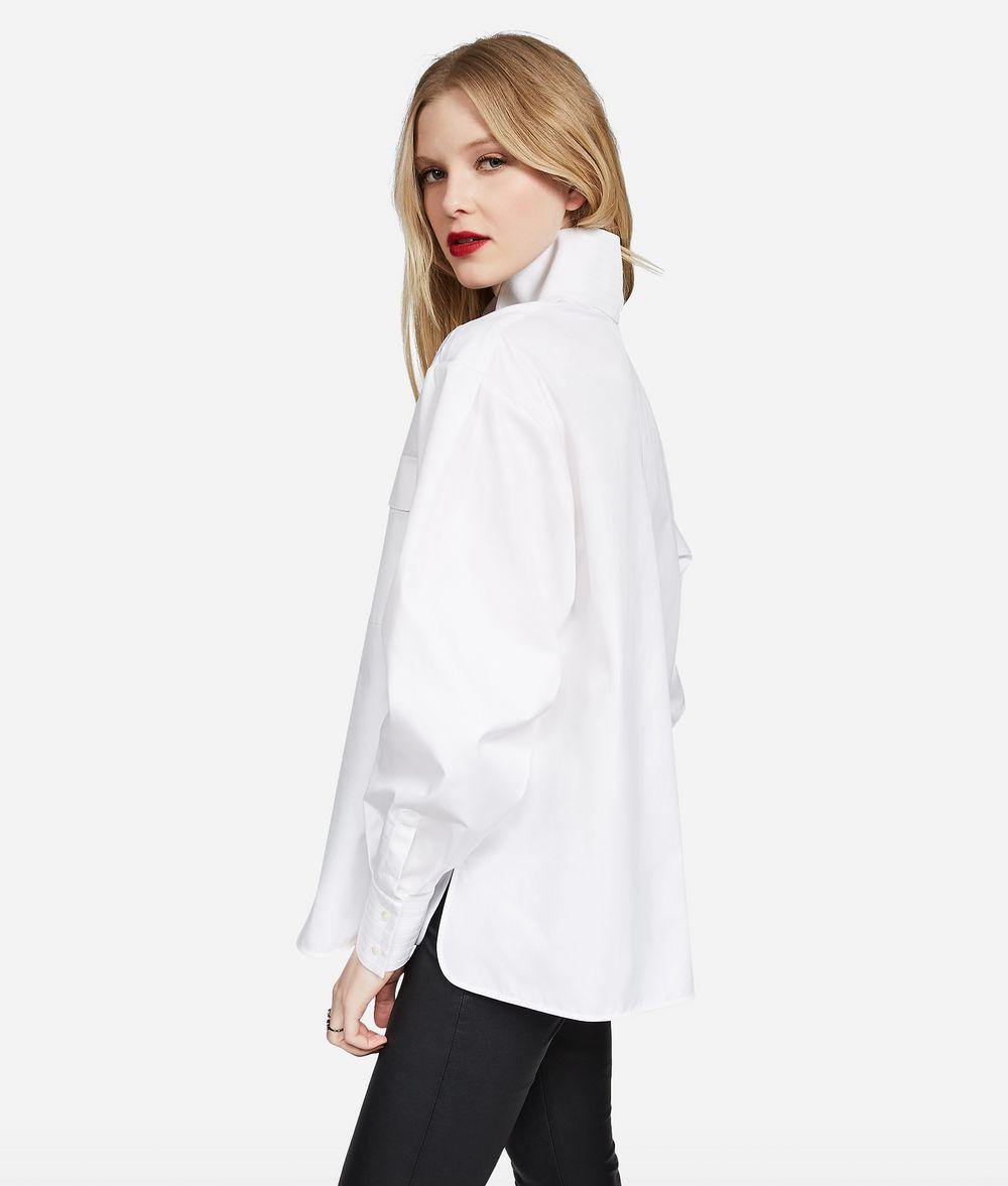 KARL LAGERFELD KARL Stand Collar Shirt Blouse Woman d