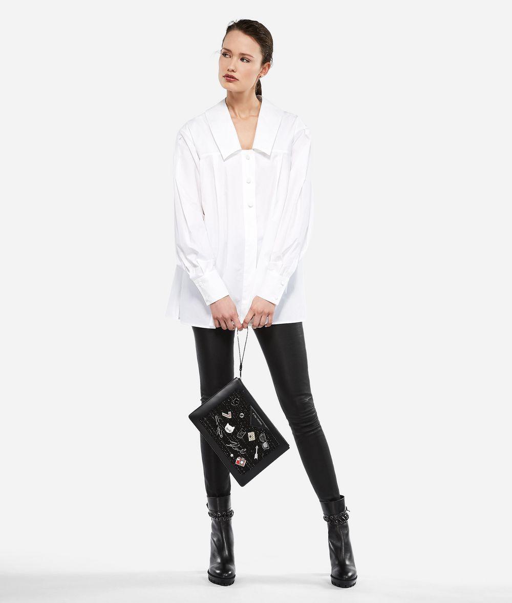 KARL LAGERFELD KARL Poplin A-line Shirt Blouse Woman f
