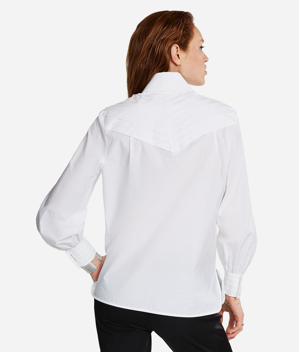 KARL LAGERFELD KARL Fitted Pleated Shirt Blouse Woman d