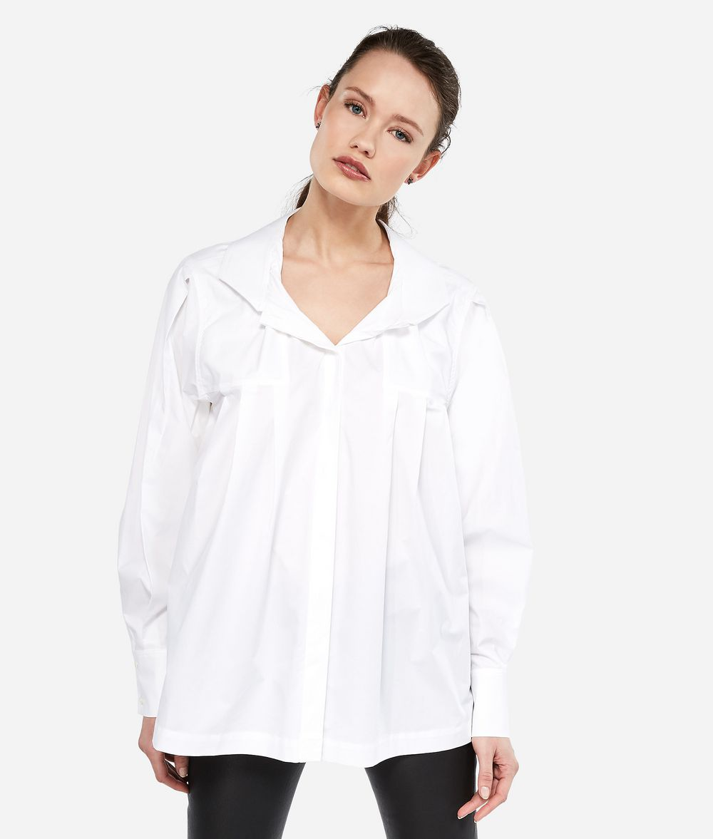 KARL LAGERFELD Рубашка KARL из поплина с воротником-бабочкой Блузка Для Женщин f