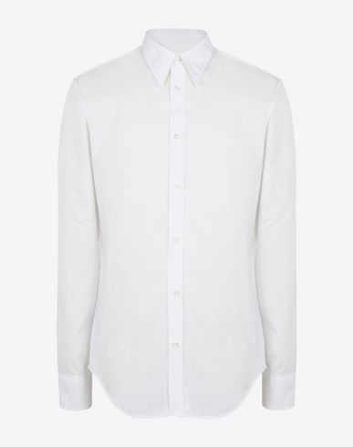 MAISON MARGIELA Long sleeve shirt Man Slim fit cotton poplin shirt f