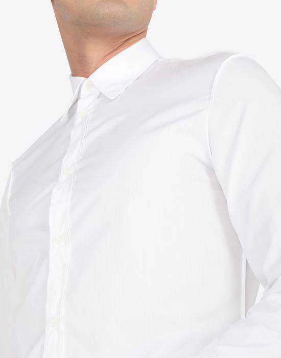 MAISON MARGIELA Slim fit cotton poplin shirt Long sleeve shirt Man a