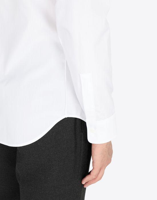 MAISON MARGIELA Slim fit cotton poplin shirt Long sleeve shirt Man b