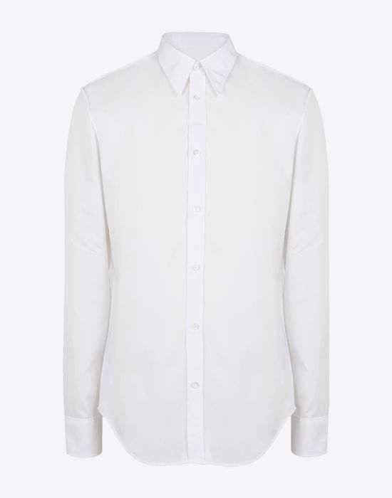 MAISON MARGIELA Slim fit cotton poplin shirt Long sleeve shirt [*** pickupInStoreShippingNotGuaranteed_info ***] f