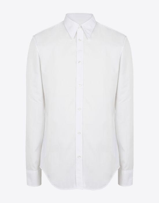MAISON MARGIELA Slim fit cotton poplin shirt Long sleeve shirt Man f