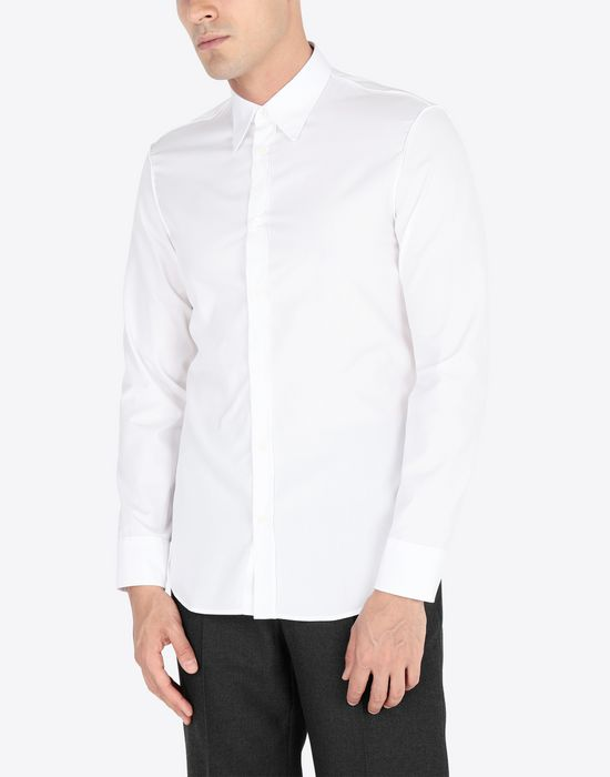 MAISON MARGIELA Slim fit cotton poplin shirt Long sleeve shirt Man r