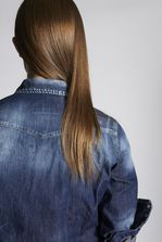 DSQUARED2 Medium Stormy Western Denim Shirt Denim shirt Woman