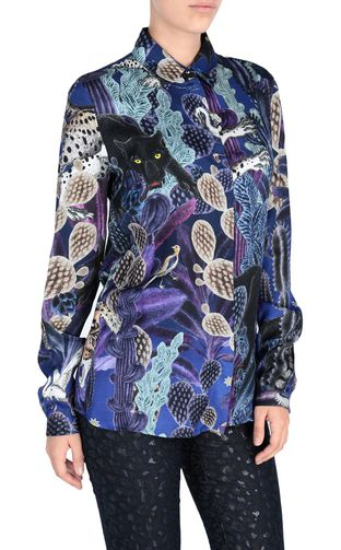 JUST CAVALLI Crewneck sweater Woman Eye Of The Peacock sweater f