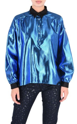 Oversized lurex shirt