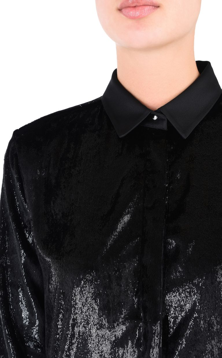 JUST CAVALLI Lurex shirt Long sleeve shirt Woman e