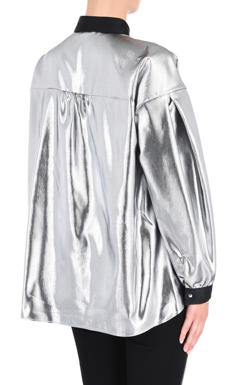 JUST CAVALLI Oversized lurex shirt Long sleeve shirt Woman d