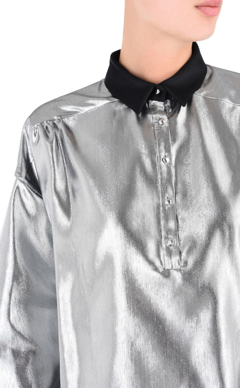 JUST CAVALLI Oversized lurex shirt Long sleeve shirt Woman e