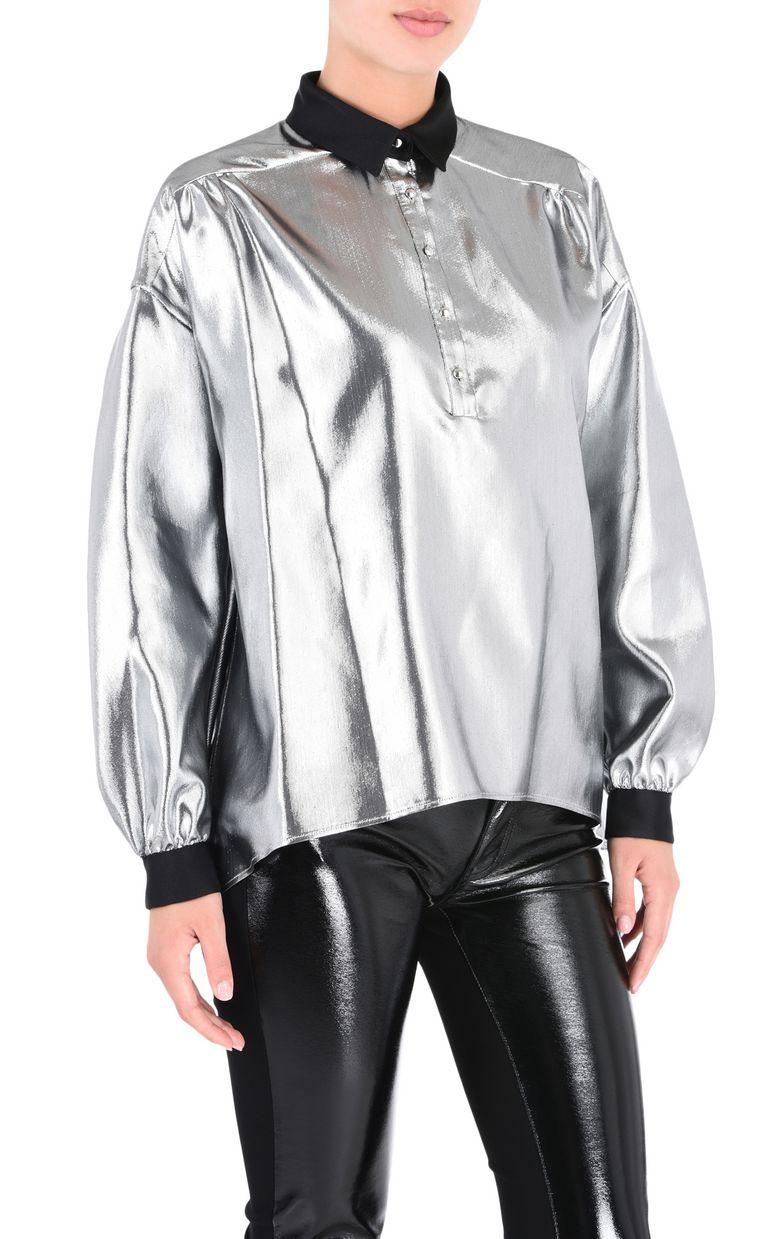 JUST CAVALLI Oversized lurex shirt Long sleeve shirt Woman f