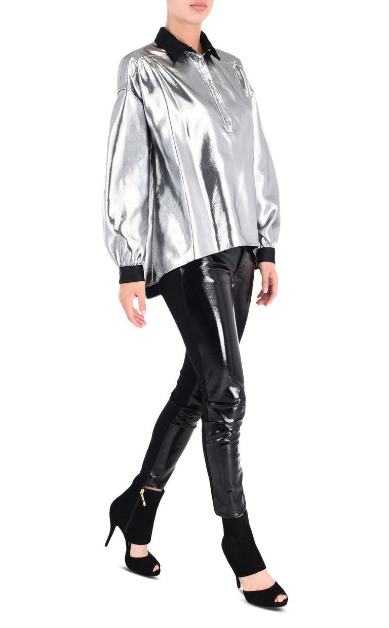 JUST CAVALLI Oversized lurex shirt Long sleeve shirt Woman r