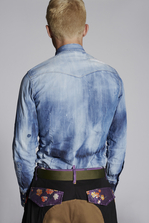 DSQUARED2 Spots and Patches Classic Western Denim Shirt  Shirt Man