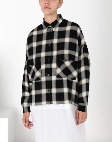 MM6 MAISON MARGIELA Long sleeve shirt Woman Checked shirt  f