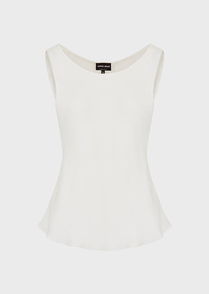 0998a357d2d1e Sleeveless top in pure silk
