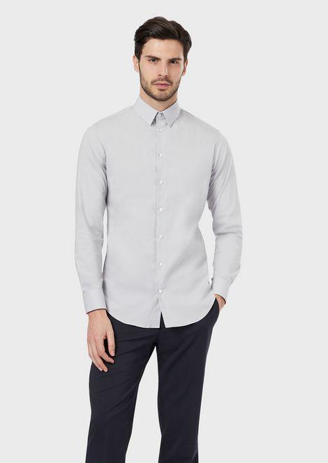 Slim-fit shirt in stretch fabric