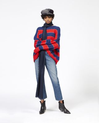 REECE striped mohair sweater