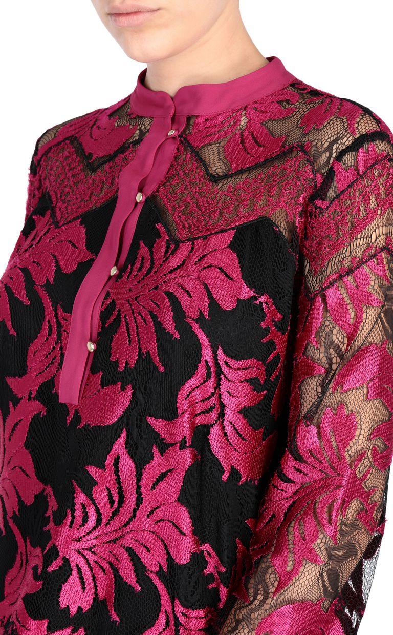 JUST CAVALLI Magenta lace shirt Blouse [*** pickupInStoreShipping_info ***] e