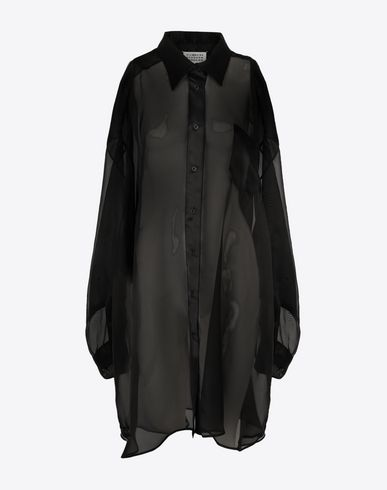 MAISON MARGIELA Long sleeve shirt [*** pickupInStoreShipping_info ***] Organza shirt  f
