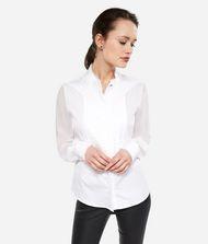 KARL LAGERFELD Cotton Silk Pintuck Shirt 9_f