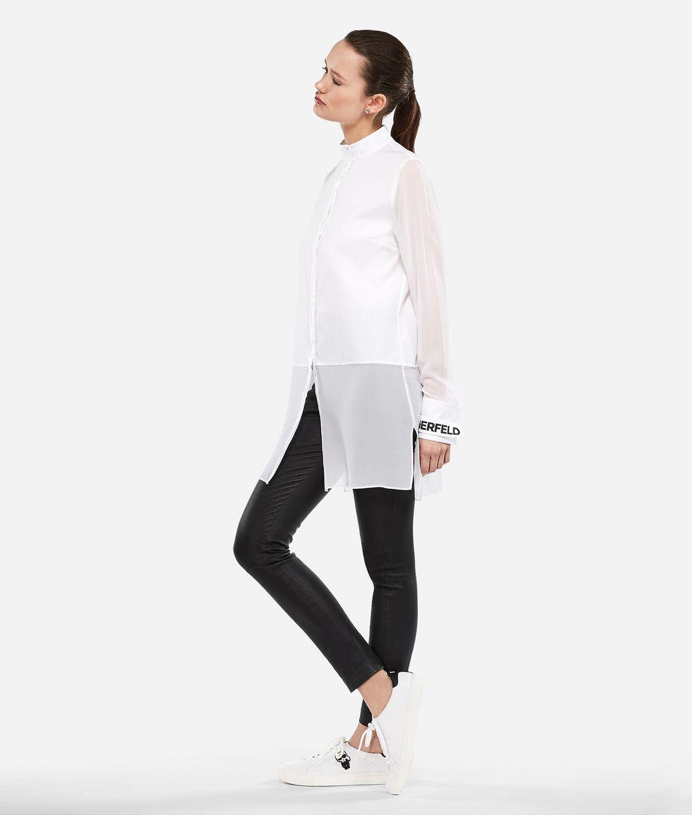 KARL LAGERFELD Long Cotton and Silk Shirt Blouse Woman d