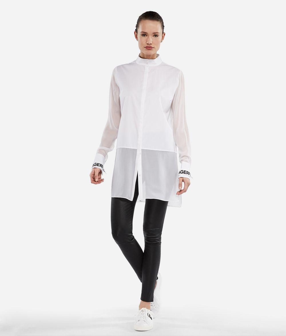 KARL LAGERFELD Long Cotton and Silk Shirt Blouse Woman f