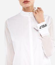 KARL LAGERFELD Long Cotton and Silk Shirt 9_f