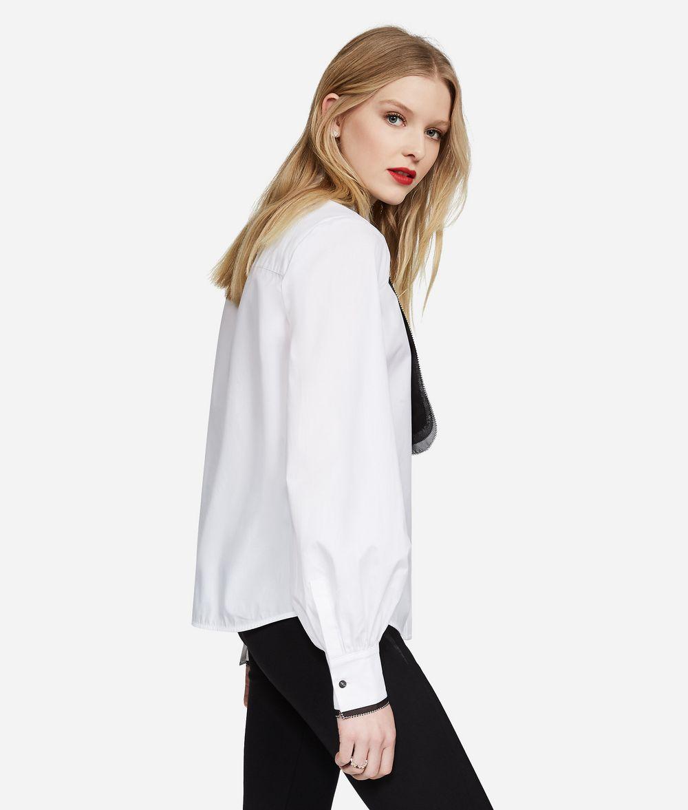 KARL LAGERFELD Cotton and Silk Organza Shirt Blouse Woman d