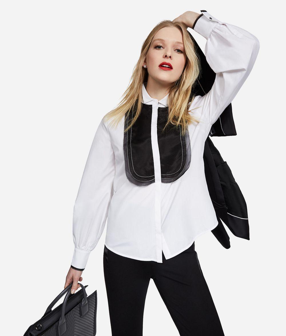 KARL LAGERFELD Cotton and Silk Organza Shirt Blouse Woman f