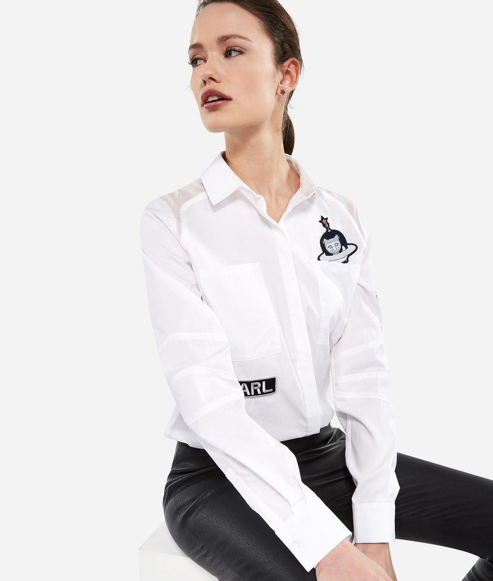 KARL LAGERFELD Karl Space Shirt Blouse Woman f