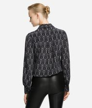 KARL LAGERFELD K/Ikonik Printed Silk Shirt Blouse Woman e