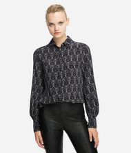 KARL LAGERFELD Blouse Woman K/Ikonik Printed Silk Shirt f