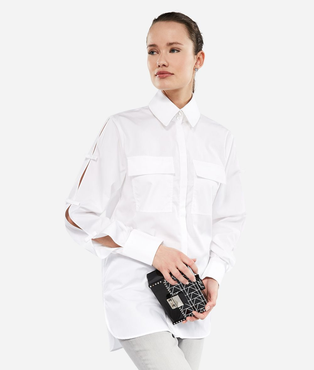 KARL LAGERFELD Karl Shirt with Bows Blouse Woman f