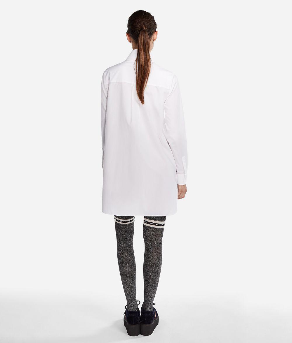 KARL LAGERFELD Karl X Kaia Logo Poplin Shirt Blouse Woman d